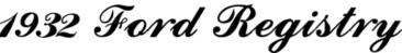1932 Ford Registry